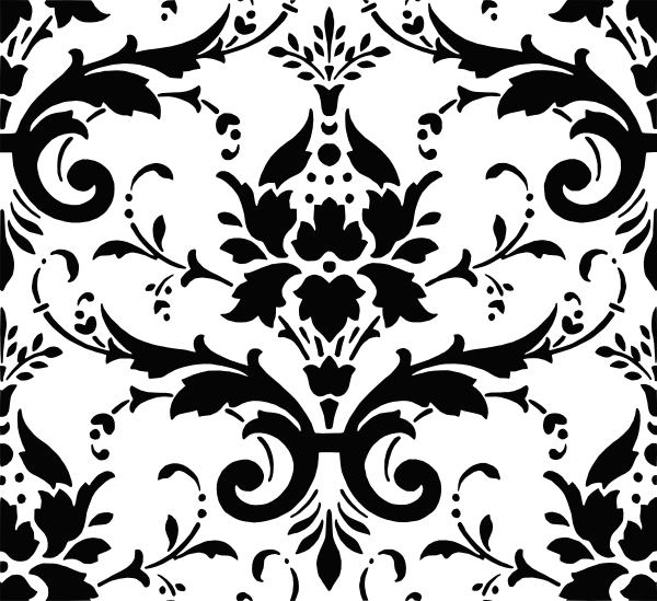 Damask Pattern Clip Art at Clker.com.