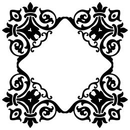 Download damask silhouette clipart Borders and Frames Decorative.