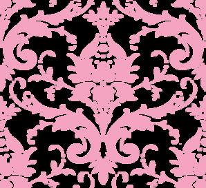 Pink Damask Clip Art at Clker.com.