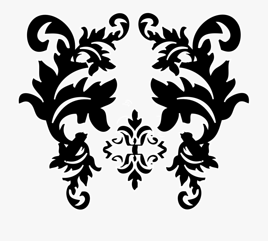 Damask Clipart.