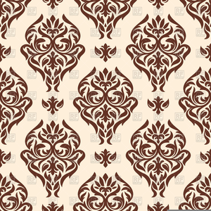 Free Brown Damask Clipart.