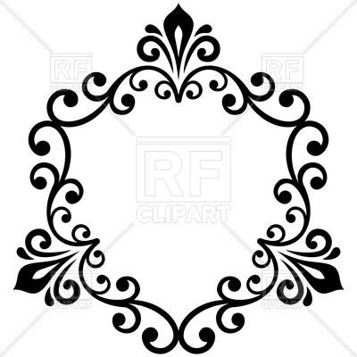 Free Damask Clipart.