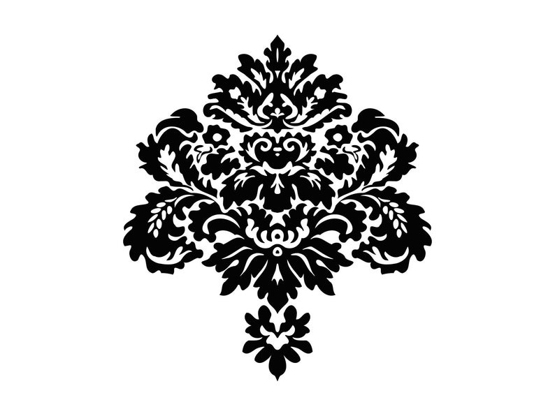 Damask Svg Design Damask Pattern Svg Floral Damask Flourish Ornament.
