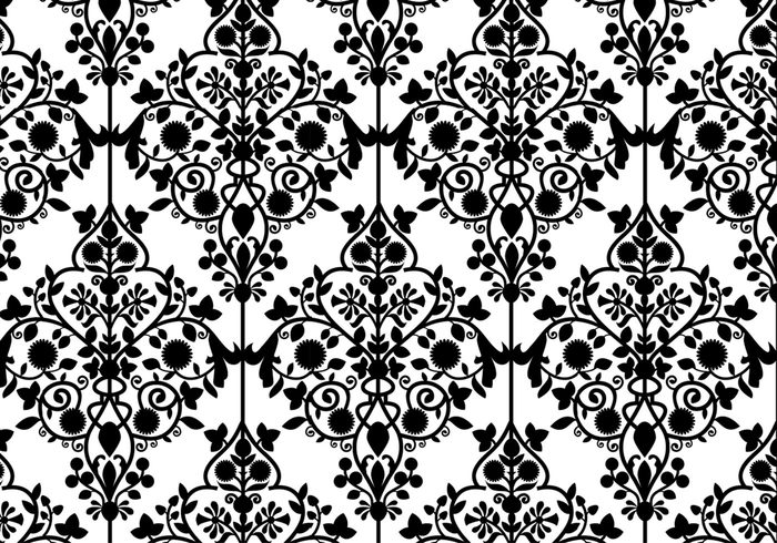 Sample Damask Pattern.