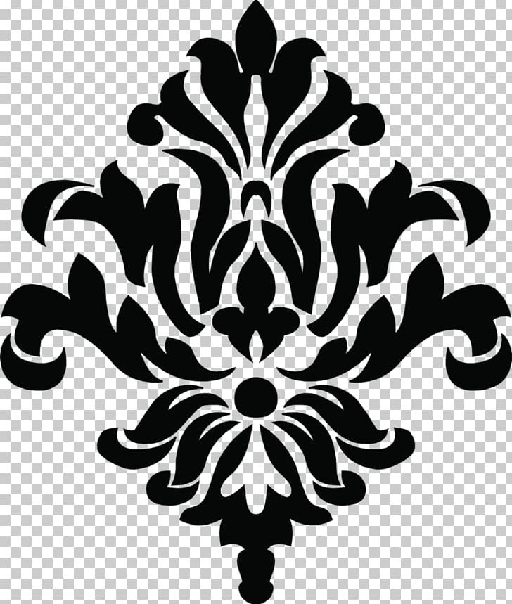 Damask Stencil Pattern PNG, Clipart, Art, Black And White, Damask.
