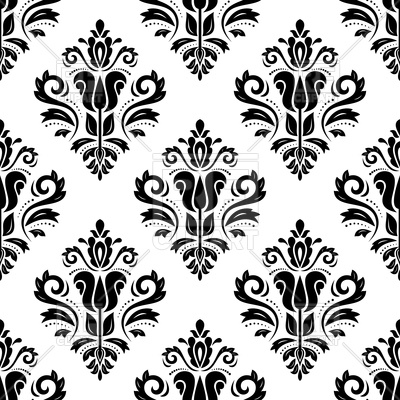 Seamless damask pattern abstract background Vector Image.