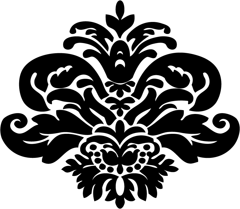 Damask Swirl Clip Art Vector Online Royalty Free And Public.