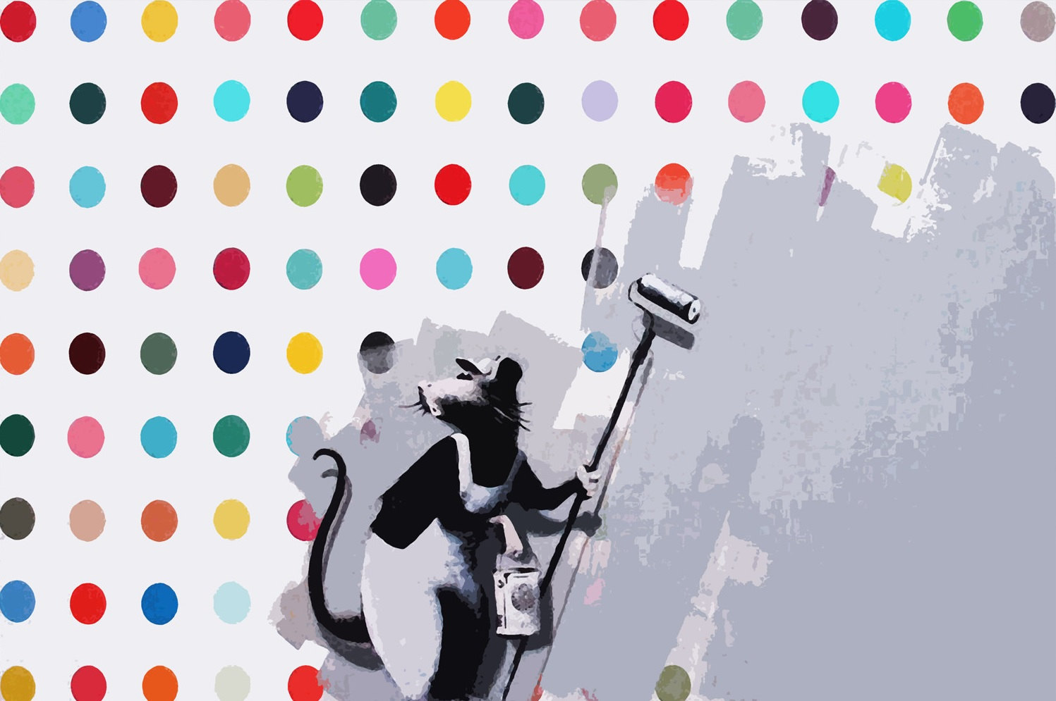 Damien hirst dots clipart.