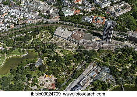 """Stock Photograph of """"Aerial view, Congress Center Hamburg or CCH."""