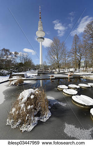 "Stock Photograph of ""Frozen ponds in """"""""Planten un Blomen."
