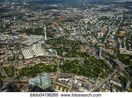 Stock Image of CCH Congress Center Hamburg and Planten und Blomen.