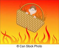 Angry art bad basket business cartoon clip damnation Vector.