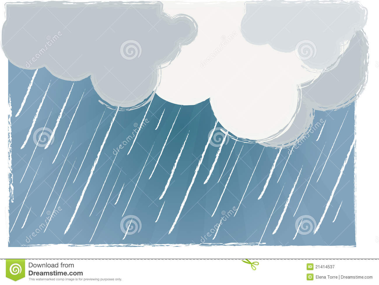 Rainy Day Vector Royalty Free Stock Photography.