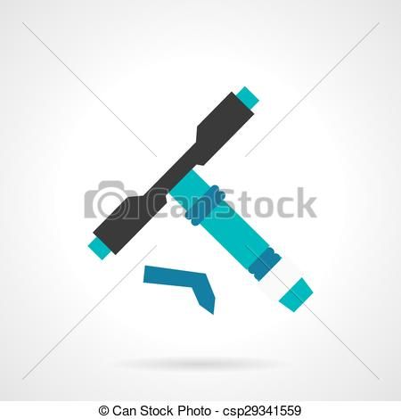 Clipart Vector of Longboard tool flat vector icon.