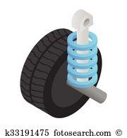 Car shock absorber damping Clip Art Illustrations. 22 car shock.