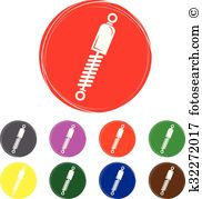 Car shock absorber damping Clip Art Illustrations. 22 car shock.