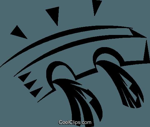 dam Royalty Free Vector Clip Art illustration.