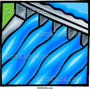 hydro dam Vector Clip art.