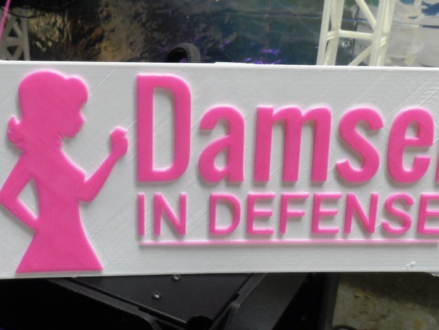 Damsel in Defense signs by ukcat.