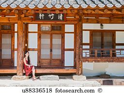 South korea traditional furniture chair Images and Stock Photos.