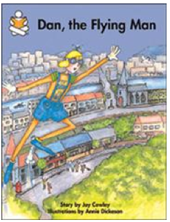 Dan The Flying Man Clipart.