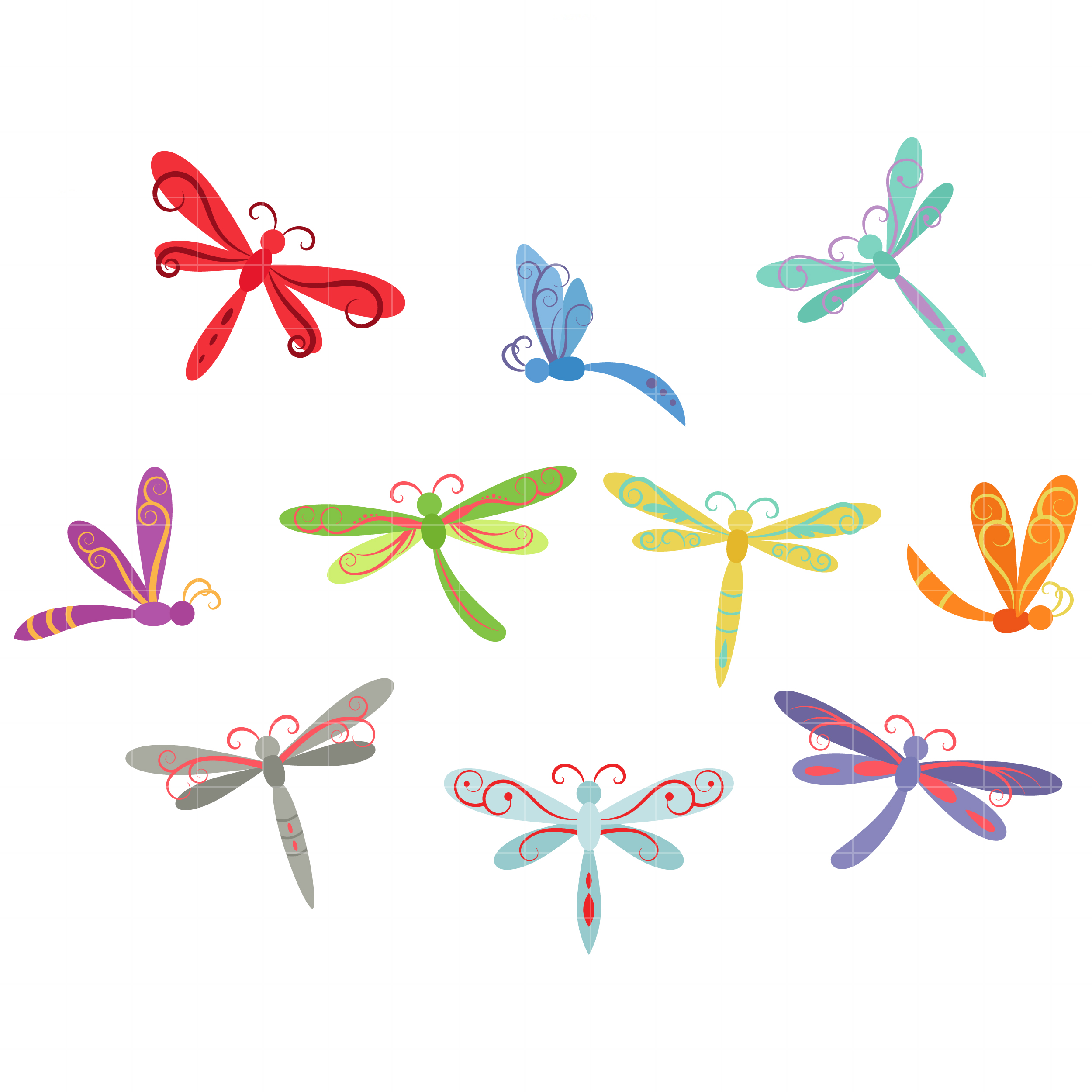 Free dragonfly clip art clipart clipart.