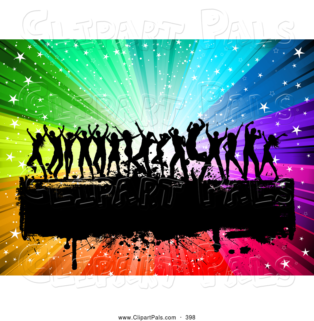 Royalty Free Dance Party Stock Friend Designs.