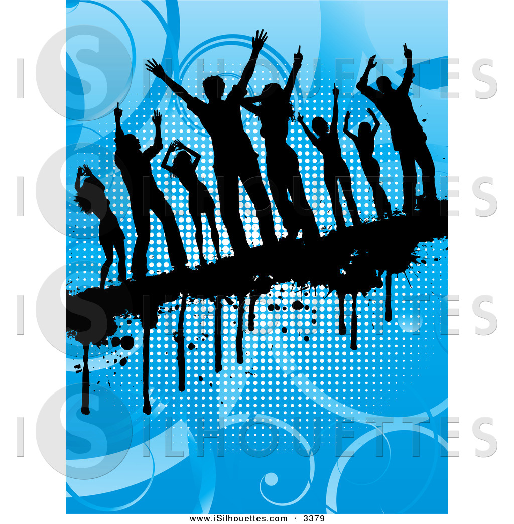 Dance floor background clipart.