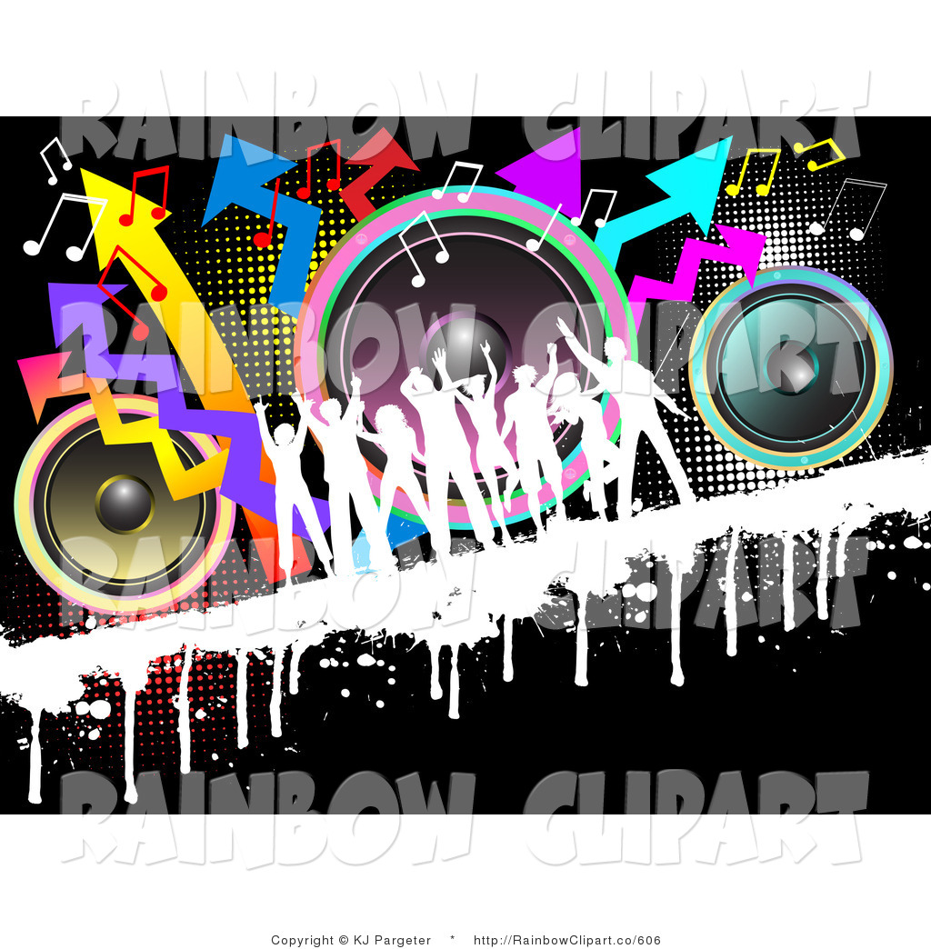 Royalty Free Dance Party Stock Rainbow Designs.