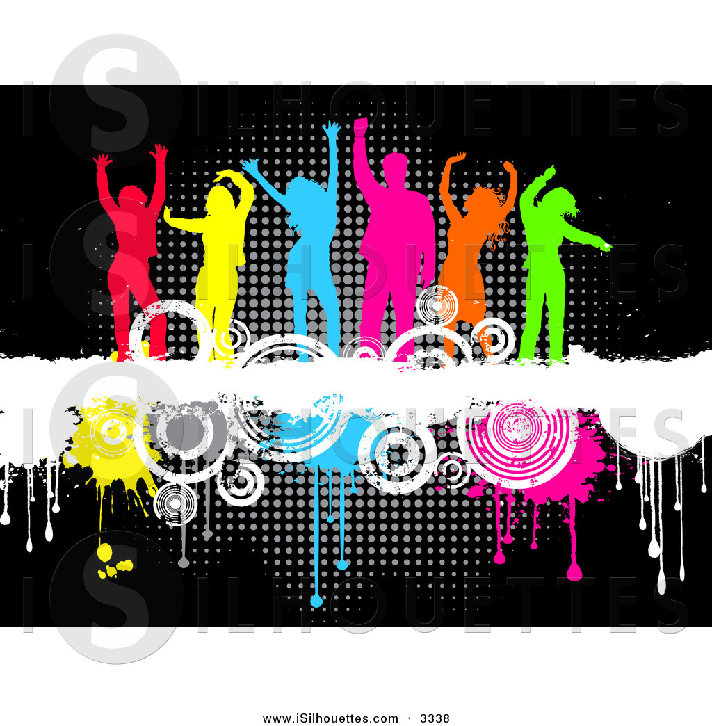 Colorful Dance Clipart.
