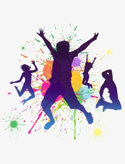 Dancing People, Dancing Clipart, People Clipart, Youth PNG.