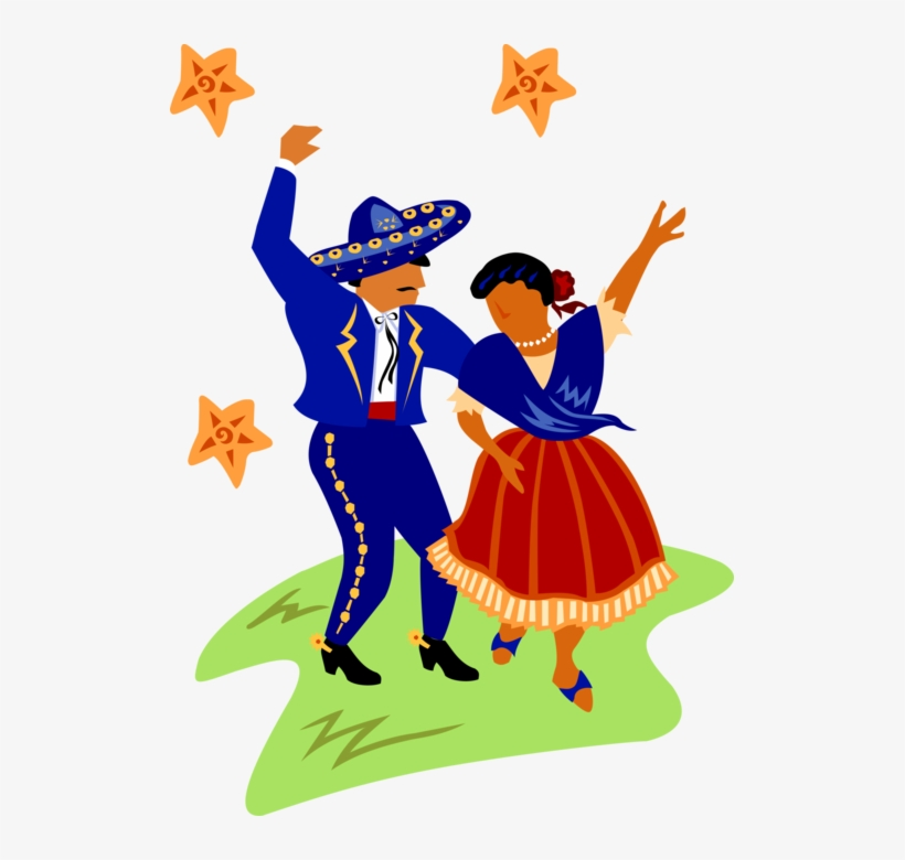 Traditional Costume Clipart Mexican Hat Dance.