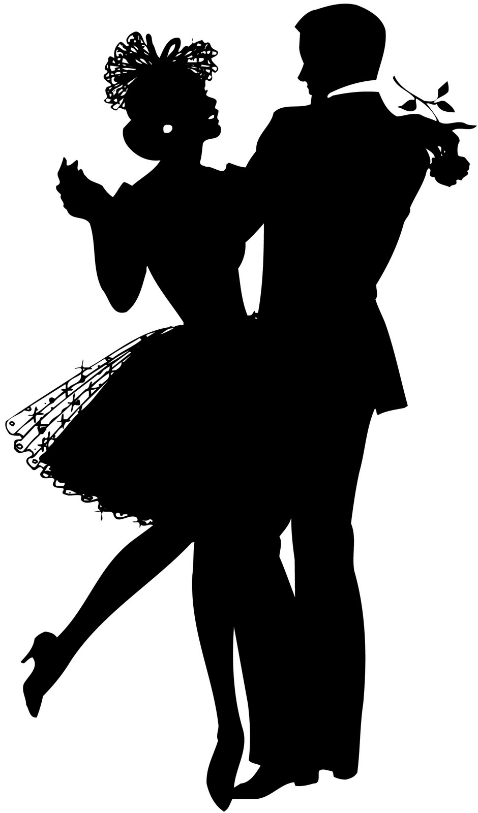 silhouette Dancing couple ….