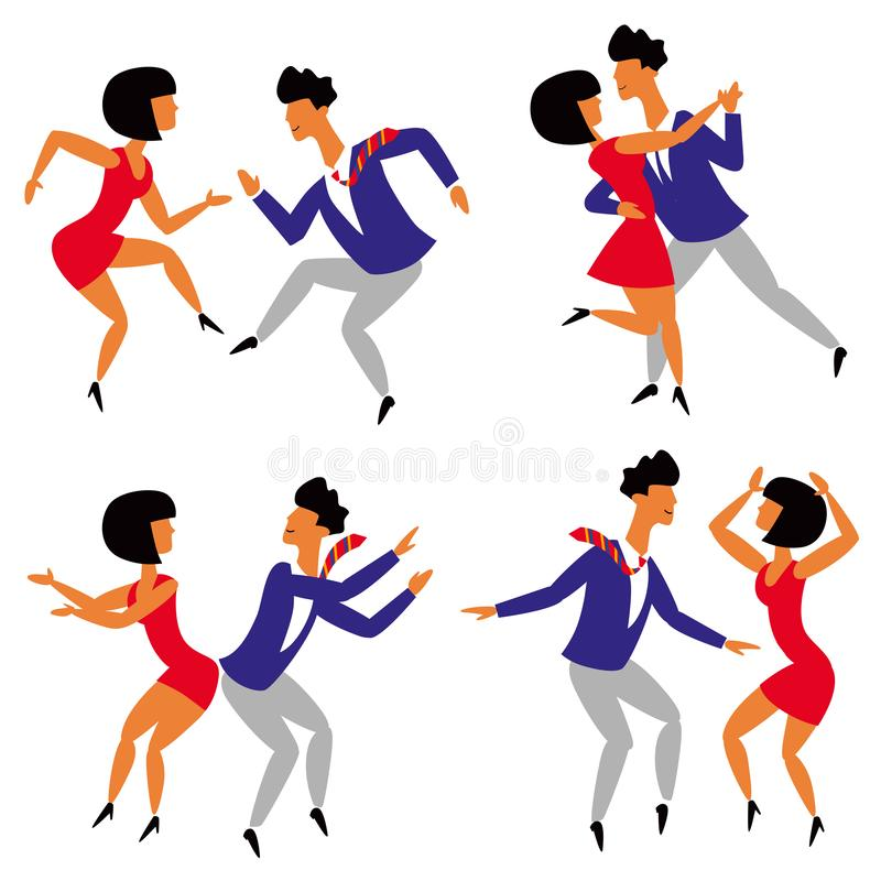 Dancing Figures Stock Illustrations.