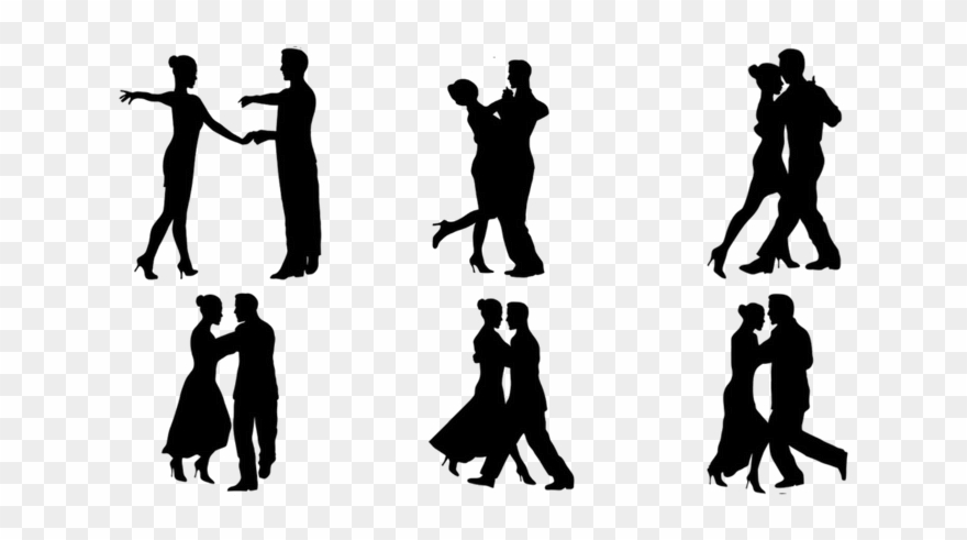 Sillhouettes Of Various Dancing Figures.