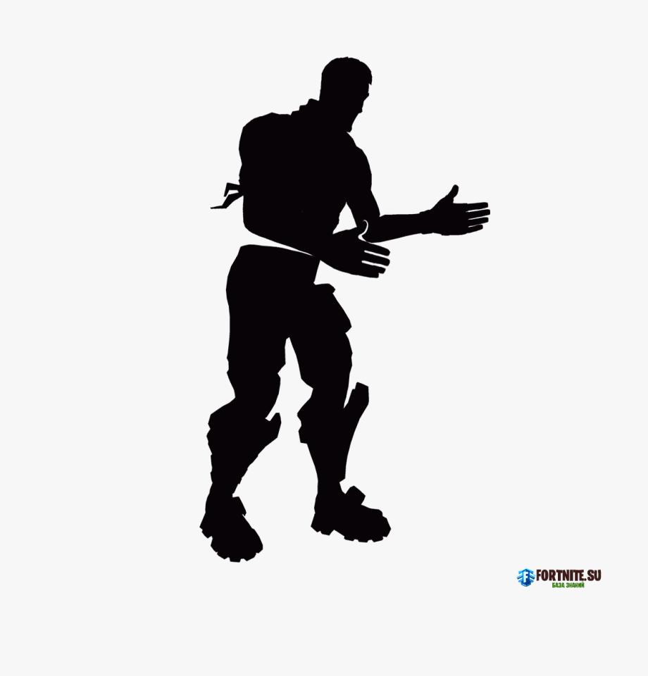 Fortnite Dance Moves Silhouette , Transparent Cartoon, Free.