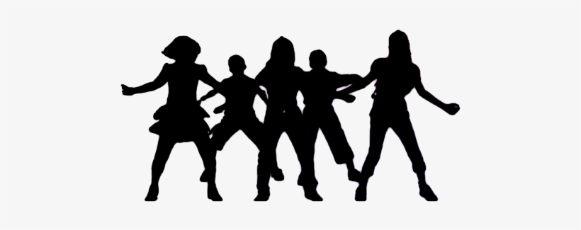 Group Dancing Silhouette Png Picture Black And White.