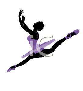 Dancer Leaping Clipart.
