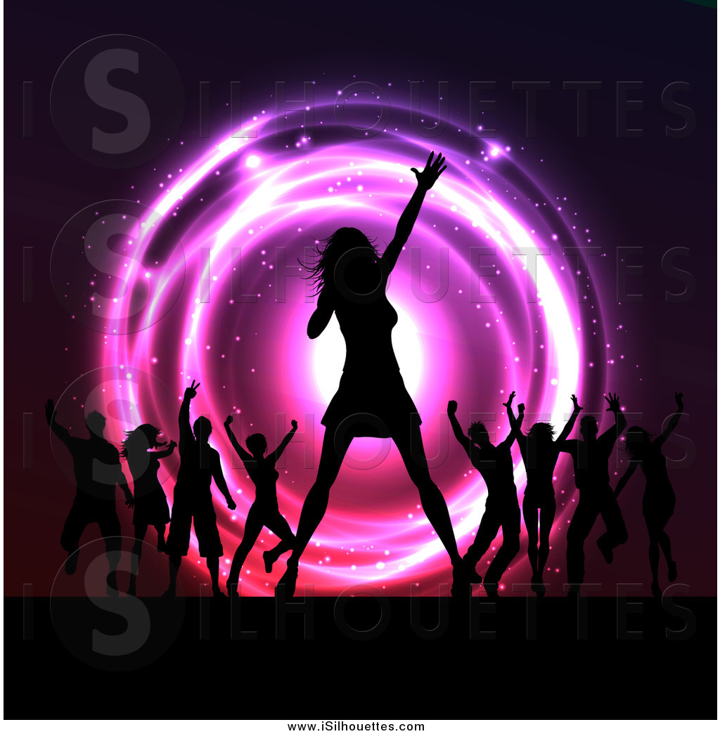 Royalty Free Dance Stock Silhouette Designs.