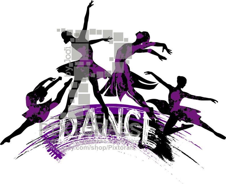 4 Dancers Logo. Line Art, EPS file, Vector and jpeg, png, pdf Dance  Clipart, Dancer, Ballet Dancer.