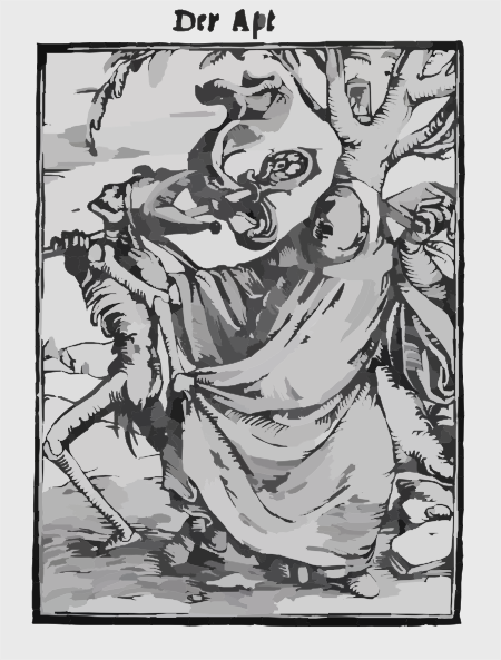 The Abbot From The Dance Of Death By Hans Holbein The Younger Clip.