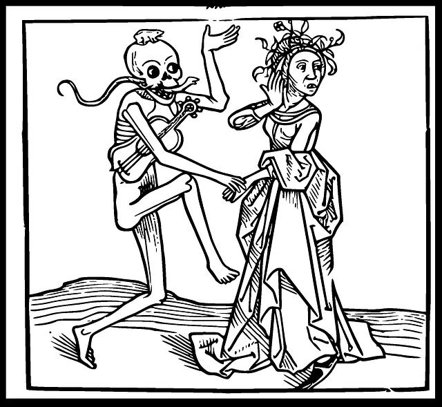 Free vector graphic: Dance Of Death, Danse Macabre.