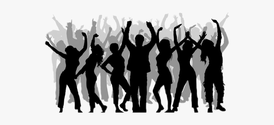 crowd #silhouettecrowd #silhouette #party #dancing.