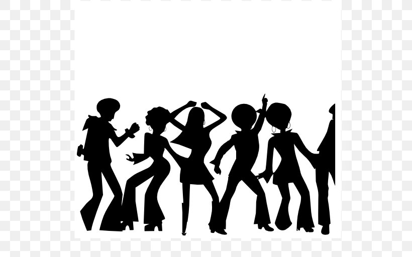 Dance Party Clip Art, PNG, 600x512px, Dance, Black And White.