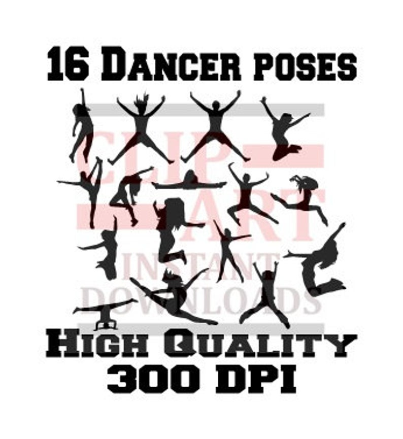 16 silhouette dance girl pose clipart, silhouette girl poses, silhouette  Cheer, dancer outlines, dancer shadow, girl shadow, dance clip art.