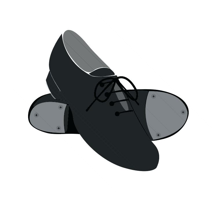 clipart dance shoes.