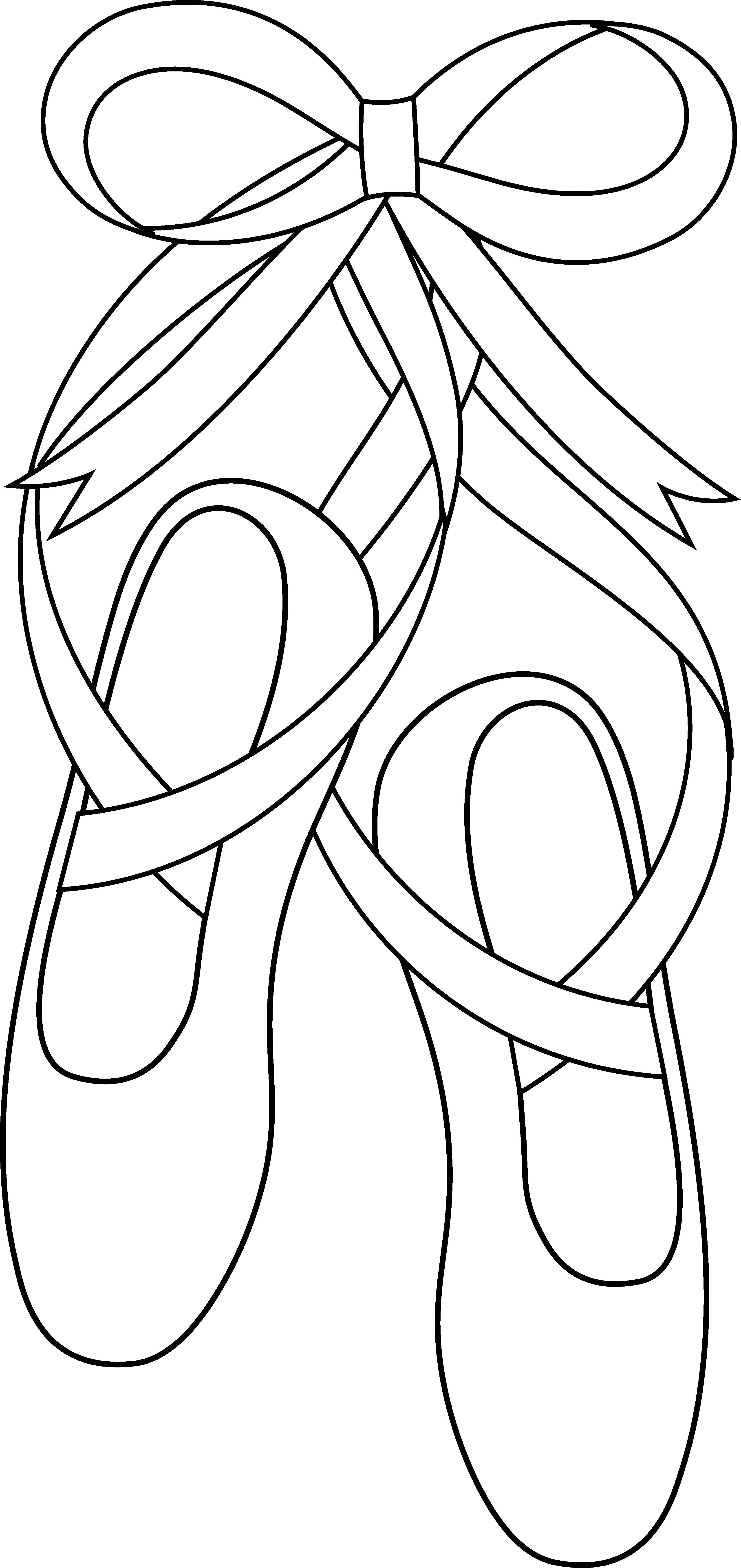 Ballet Dance Shoes Clipart free image.
