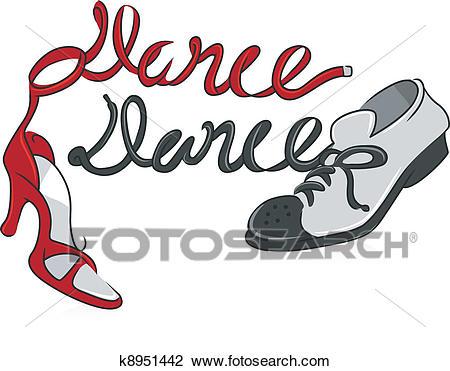 Dancing Shoes Clipart.