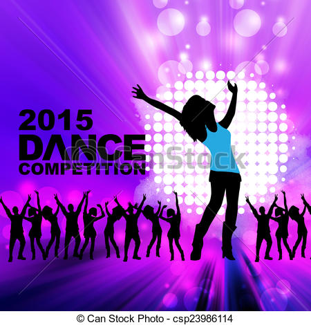 Clipart of New year dance show csp23986114.