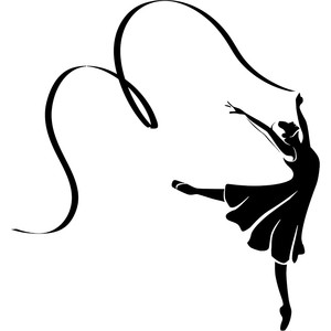 Ballet, Gymnastics & Cheer Vector Art.